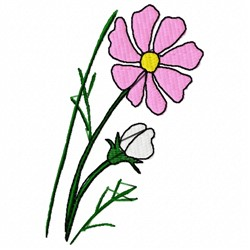 Cosmo Flower embroidery design