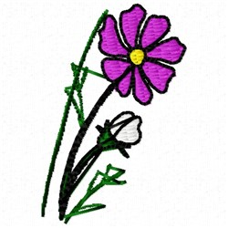 Small Bud embroidery design