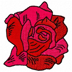 Rose Head embroidery design