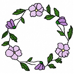 Violet Circle embroidery design