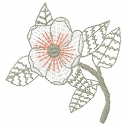 Faded Flower embroidery design