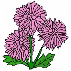 Mum Flower embroidery design