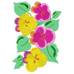 Pansies Plant embroidery design