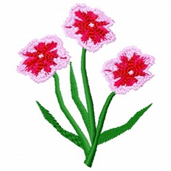 Dianthus Flower embroidery design