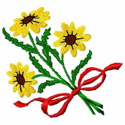 Black-eyed Susans embroidery design