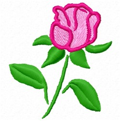 Outlined Flower embroidery design