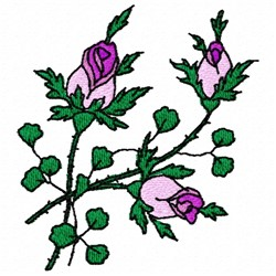 Rose Branch embroidery design