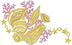 Decorative Shells embroidery design