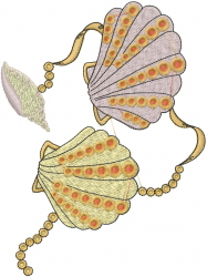 Clam Shells embroidery design