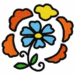 Circle Flower embroidery design
