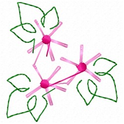 Flower Stencil embroidery design