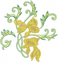 Fancy Goldfish embroidery design