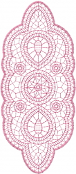 Lace Doily Outline embroidery design
