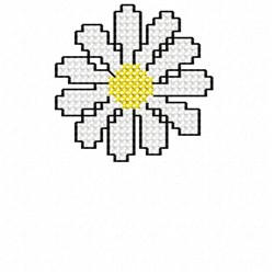 Single Daisy embroidery design