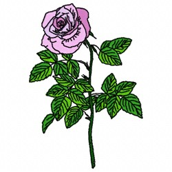 One Rose embroidery design