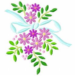 Bow Floral embroidery design