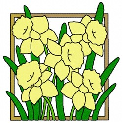 Jonquils embroidery design