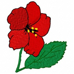 Hibiscus embroidery design