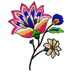 Wall Flower embroidery design