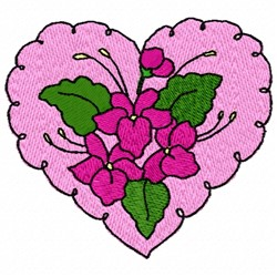 Valentine Flowers embroidery design