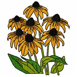 Black Eyed Susan embroidery design