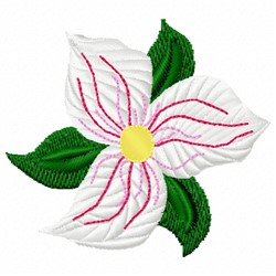 Trillium Flower embroidery design