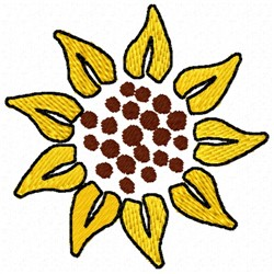 Sunflower Bloom embroidery design