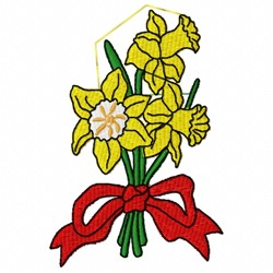 Daffodil Bouquet embroidery design