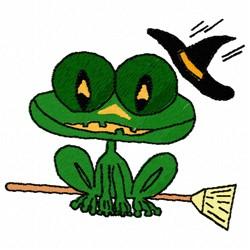Halloween Frog embroidery design