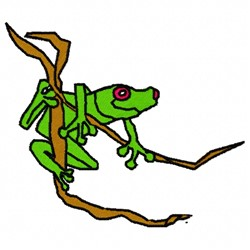 Tree Frog embroidery design