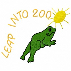 Leap Frog embroidery design