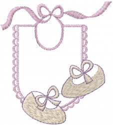 Baby Bib Shoes embroidery design