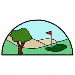 Golf Green Fairway embroidery design