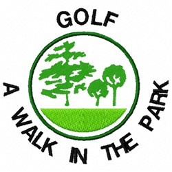 Golf in Park embroidery design