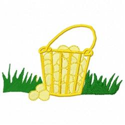 Golf Basket embroidery design