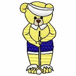 Bear Golf embroidery design