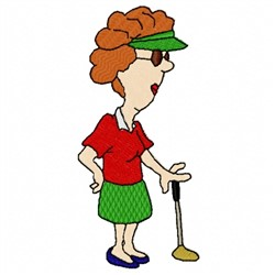 Golf Woman embroidery design