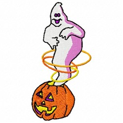 Ghost Pumpkin embroidery design