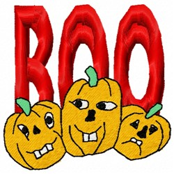 Boo Pumpkins embroidery design