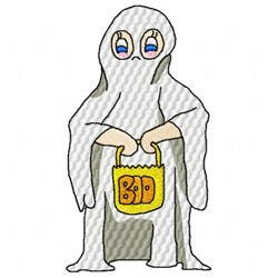 Boo Costume embroidery design