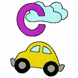 C Car embroidery design