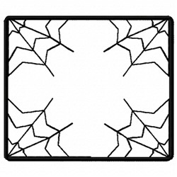 Web Frame embroidery design