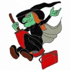 Vacuum Witch embroidery design