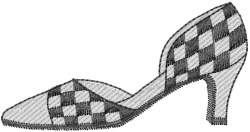 Checker Healed Shoe embroidery design