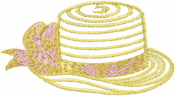 Straw Hat embroidery design