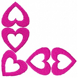 Heart Shapes embroidery design