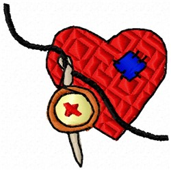 Mended Heart embroidery design