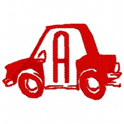 Car Letter A embroidery design