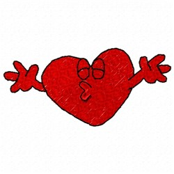 Kissing Heart embroidery design