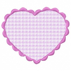 Plaid Heart embroidery design